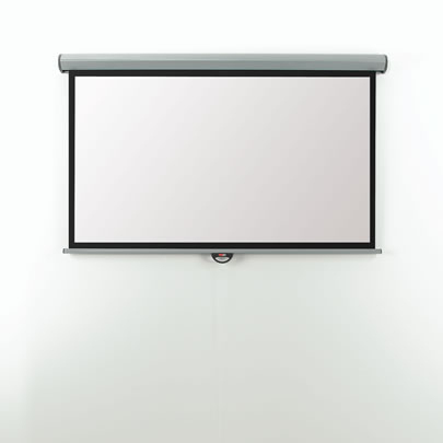 EMW24W Metroplan Eyeline Screen - Manual - Widescreen Format - 240cm (w) - Wall/ceiling Screen - Easy To Install With The Unique 'click On - Click Off' Fixing Brackets. - C2000