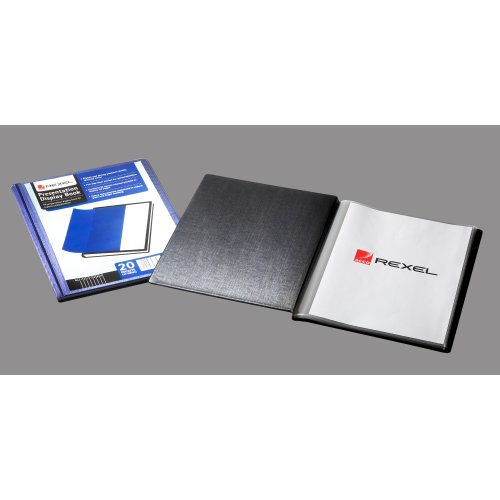 12710bk acco Rexel Presentation Display Book 20 Pocket A4  Black 12710bk - AD01