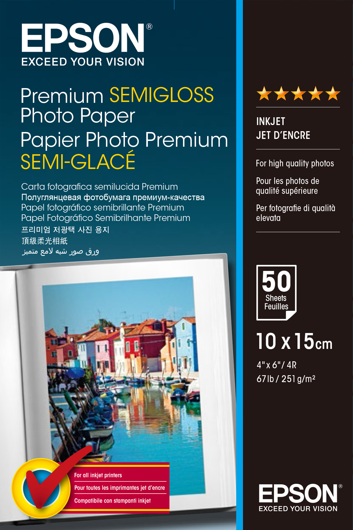 C13s041765 epson Prem Semigloss Photo Paper 10x15 - AD01