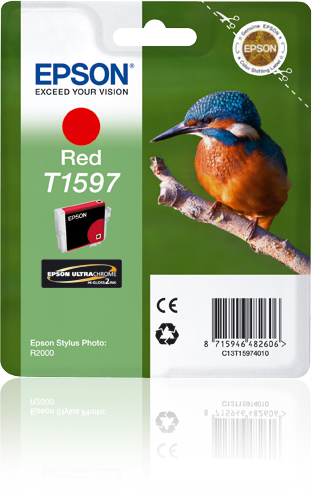 C13t15974010 epson Epson R2000 Red Ink Cartridge - AD01
