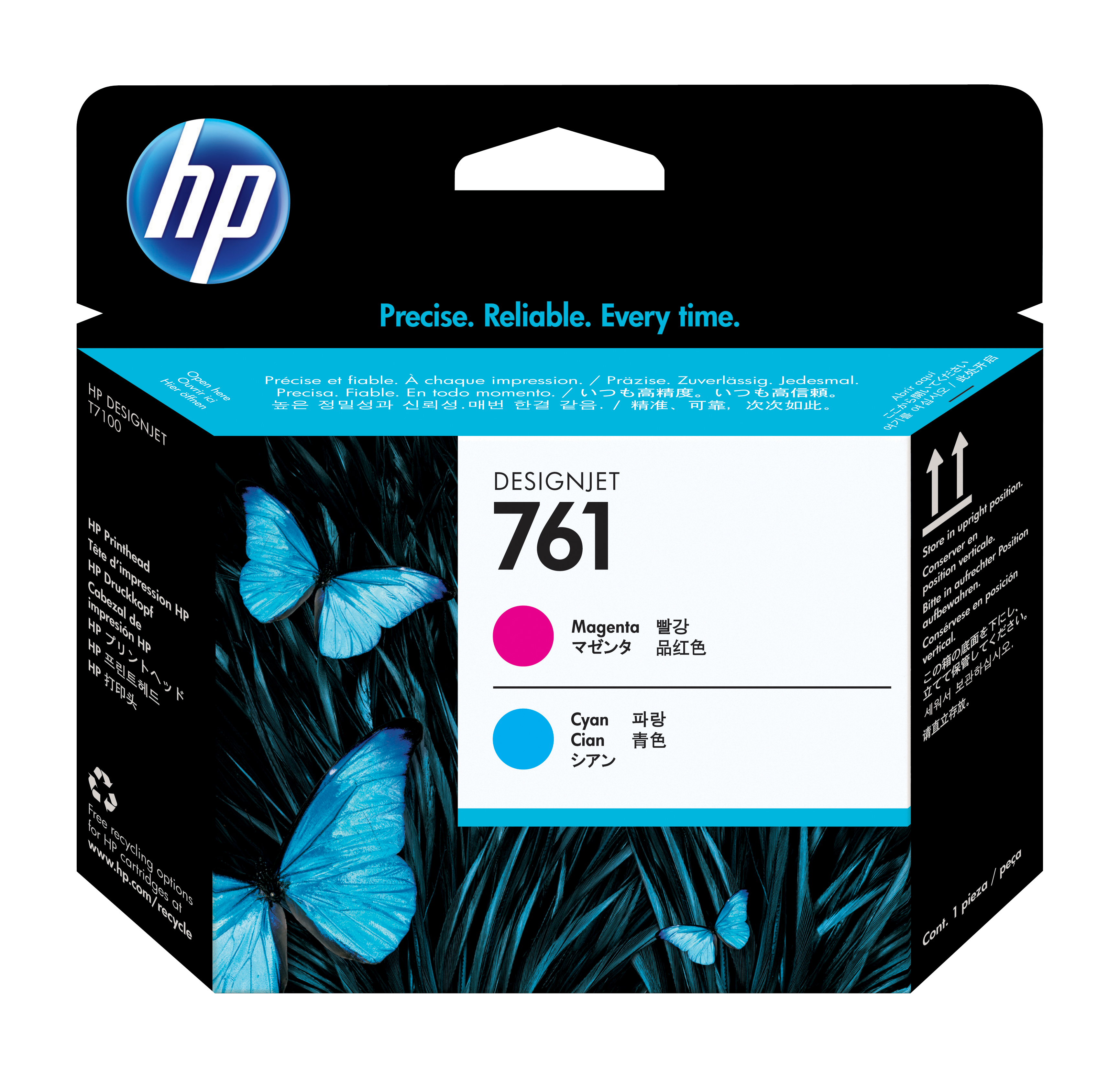 Ch646a HP No. 761 Ink Printhead - Magenta & Cyan