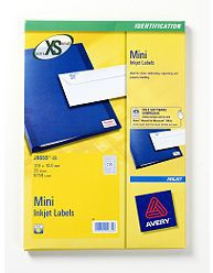 J8659-25 avery Avery White Mini Labels 17.8x10mm J8659-25 (6750 Labels) - AD01