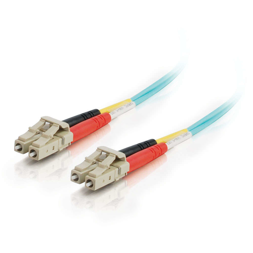 85549 C2g C2G LC-LC 10Gb 50/125 OM3 Duplex Multimode PVC Fiber Optic Cable (LSZH) - Network Cable - LC Multi-mode (M) - LC Multi-mode (M) - 1 M - Fibre Optic - 50 / 125 Micron - OM3 - Halogen - C2000