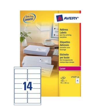 L7163-500 avery Avery Quickpeel Address Label 99x38mm L7163-500 (7000labels) - AD01