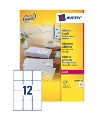 L7164-100 avery Avery Quickpeel Address Label 63x72mm L7164-100 (1200labels) - AD01