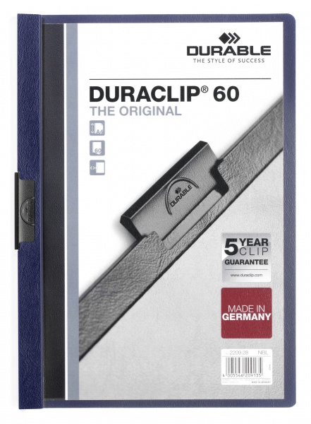 220928 durable Durable Duraclip 60 Report File 6mm A4 Mn Blue 220928 (pk25) - AD01