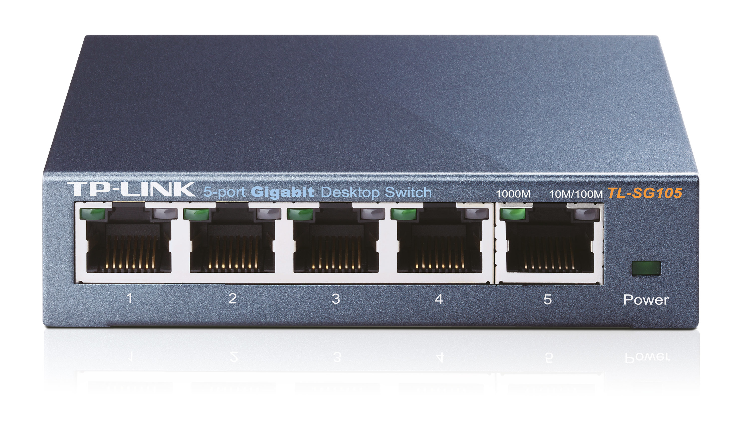 TL-SG105 Tp-link TP-Link TL-SG105 5-Port Gigabit Desktop Switch, Steel Case - C2000
