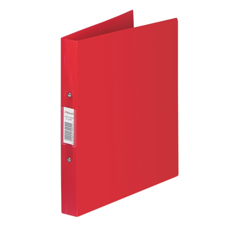 13422rd acco Rexel Budget Ring Binder Polyprop 2-or 25mm A4 Red 13422rd - (pk10) - AD01