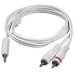 80128 C2g 5m One 3.5mm Male To Two RCA Male Audio Y-Cable - White - C2000