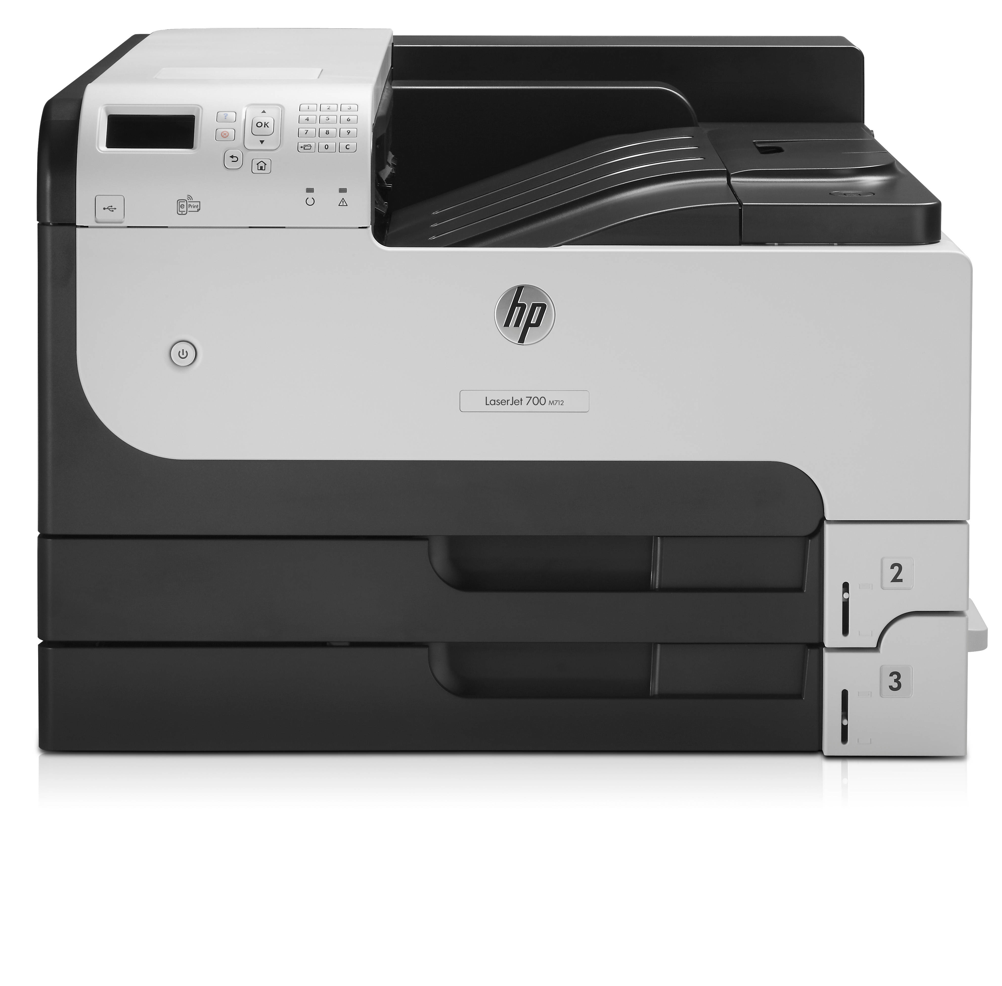 CF236A#B19 Hp HP LaserJet Enterprise 700 M712dn, Print, A3, Mono, 40ppm, 512MB, 1200 X 1200dpi, 100 Sheet Multipurpose Paper Tray, 2 250 Sheet Paper Trays, 2 Hi-speed USB 2.0, 1 Hi-speed USB  - C2000