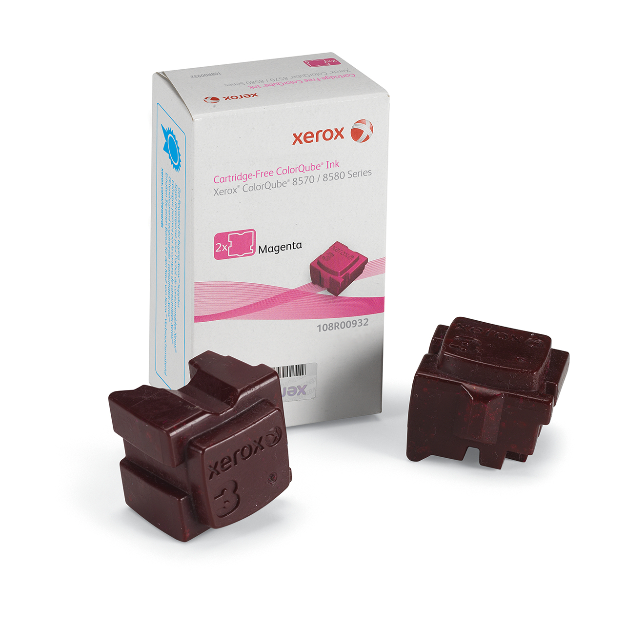 108r00932 Xerox Solid Ink Magenta (2 Sticks)        F/ 8570
