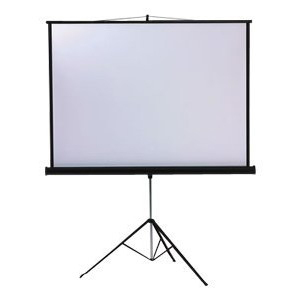LT1003 Metroplan Professional Tripod Screen - 200cm (w) - Robust High Quality Screen - Height Adjustable To Offer Variable Format - Built In Keystone Correction Arm - 13.5kg - C2000