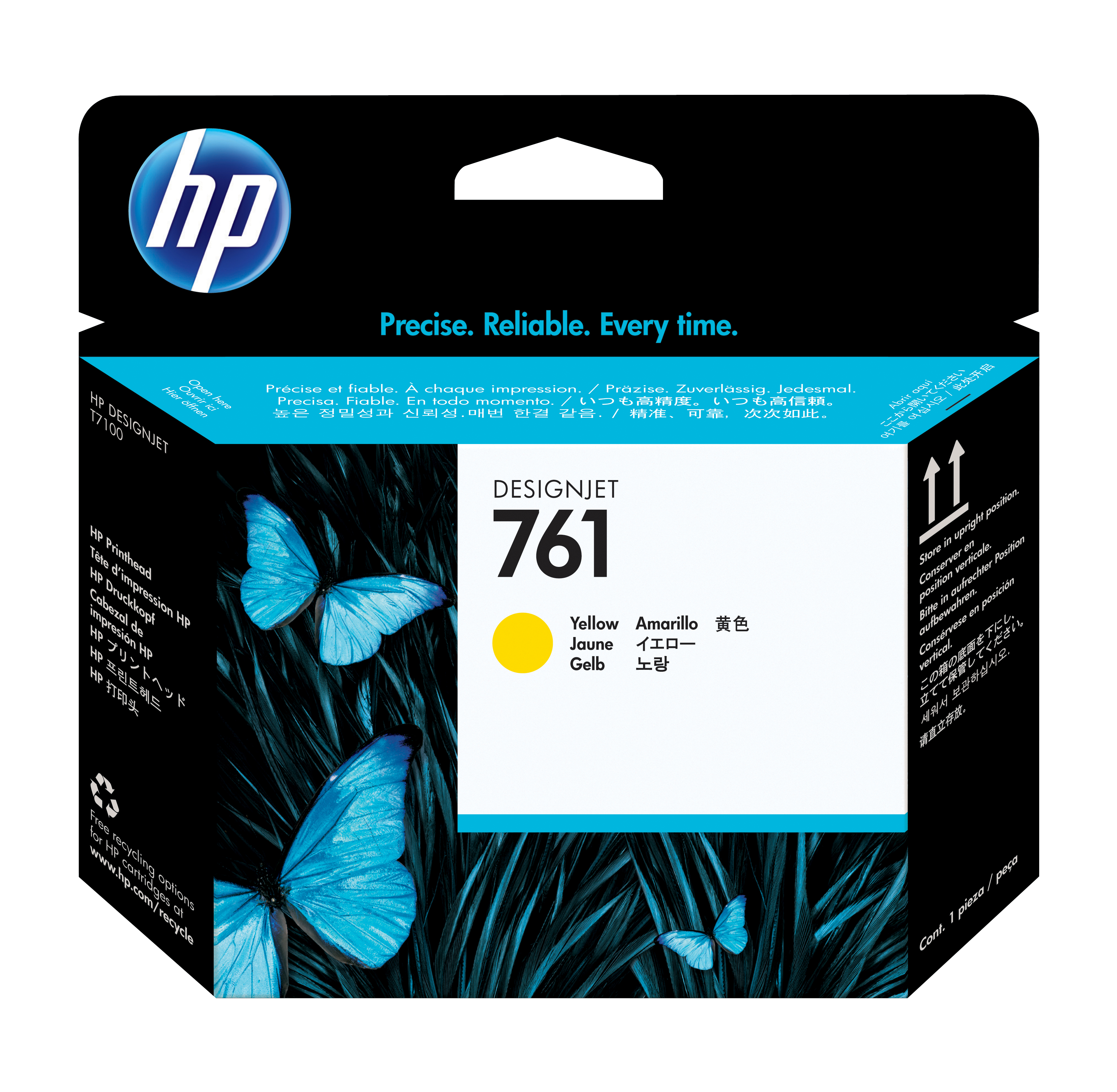 Ch645a HP No. 761 Ink Printhead - Yellow
