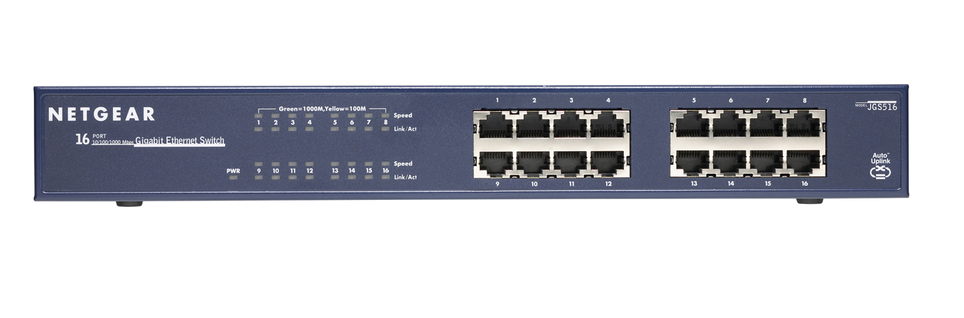 JGS516-200EUS Netgear ProSafe 16-port Gigabit Ethernet Switch - C2000