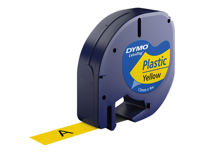 S0721620 Dymo DYMO LetraTag Tape 12mm Plastic Yellow - C2000