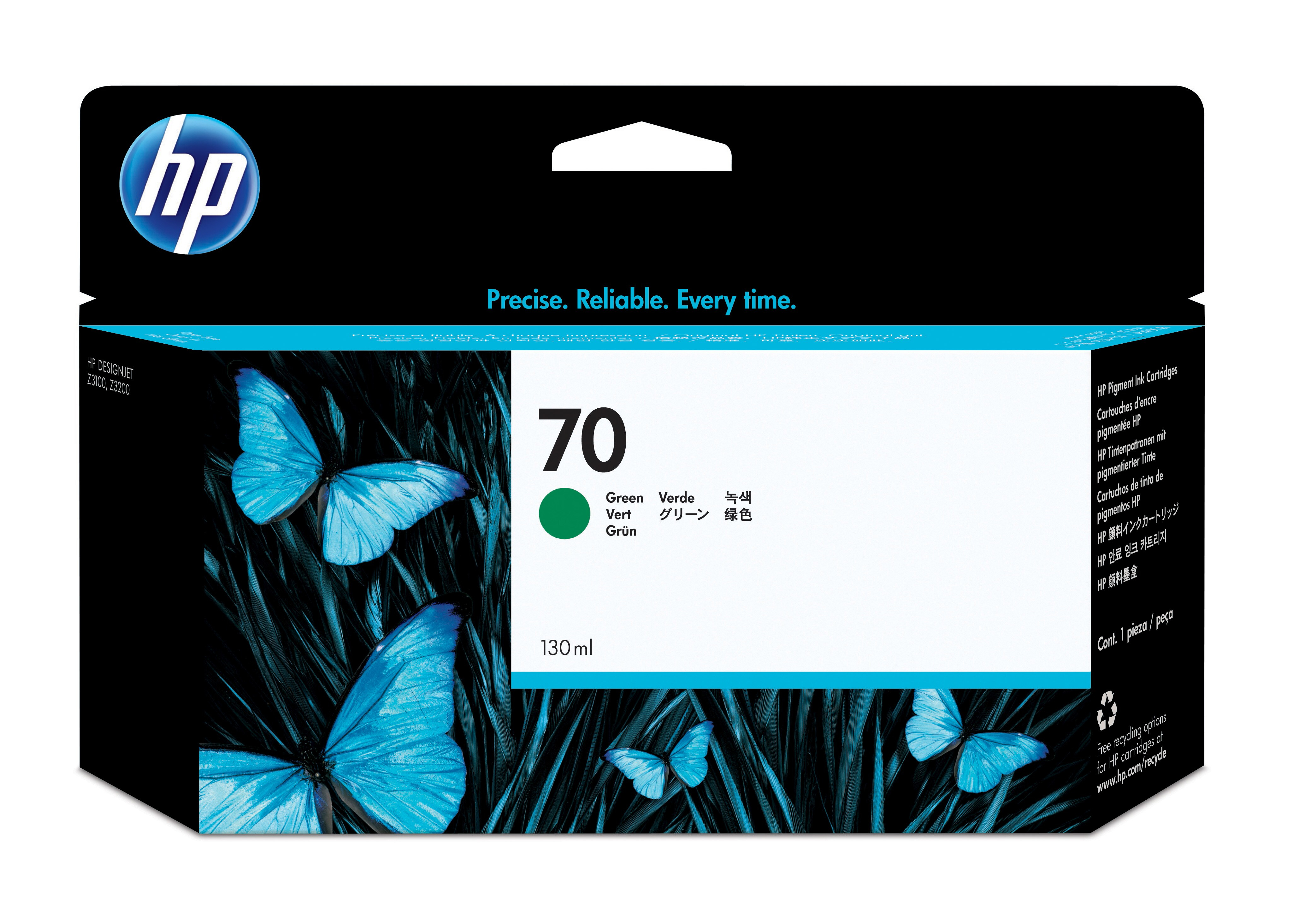 HP No. 70 Ink Cartridge Green - 130ml C9457a