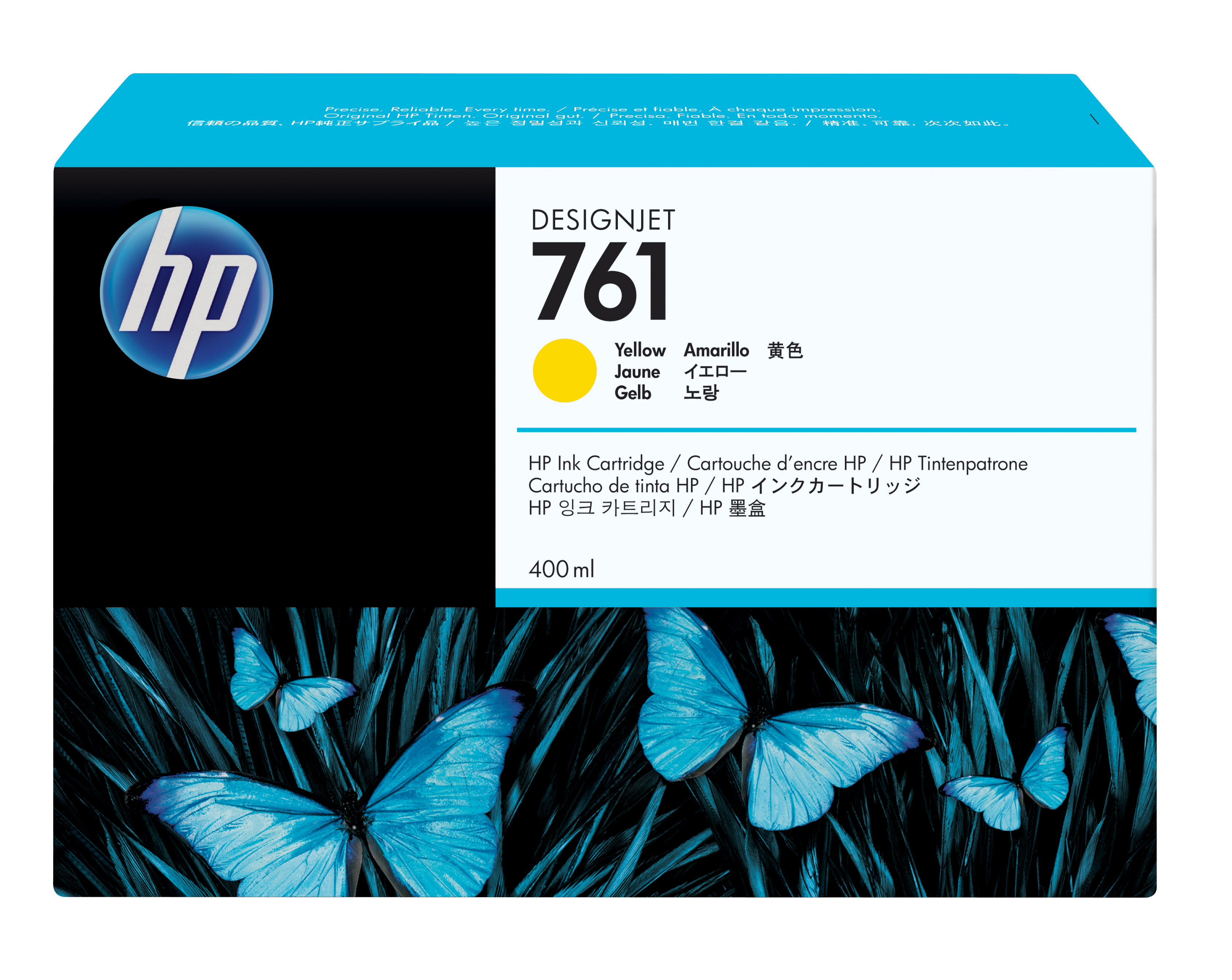 HP No. 761 Ink Cartridge - Yellow - 400ml Cm992a
