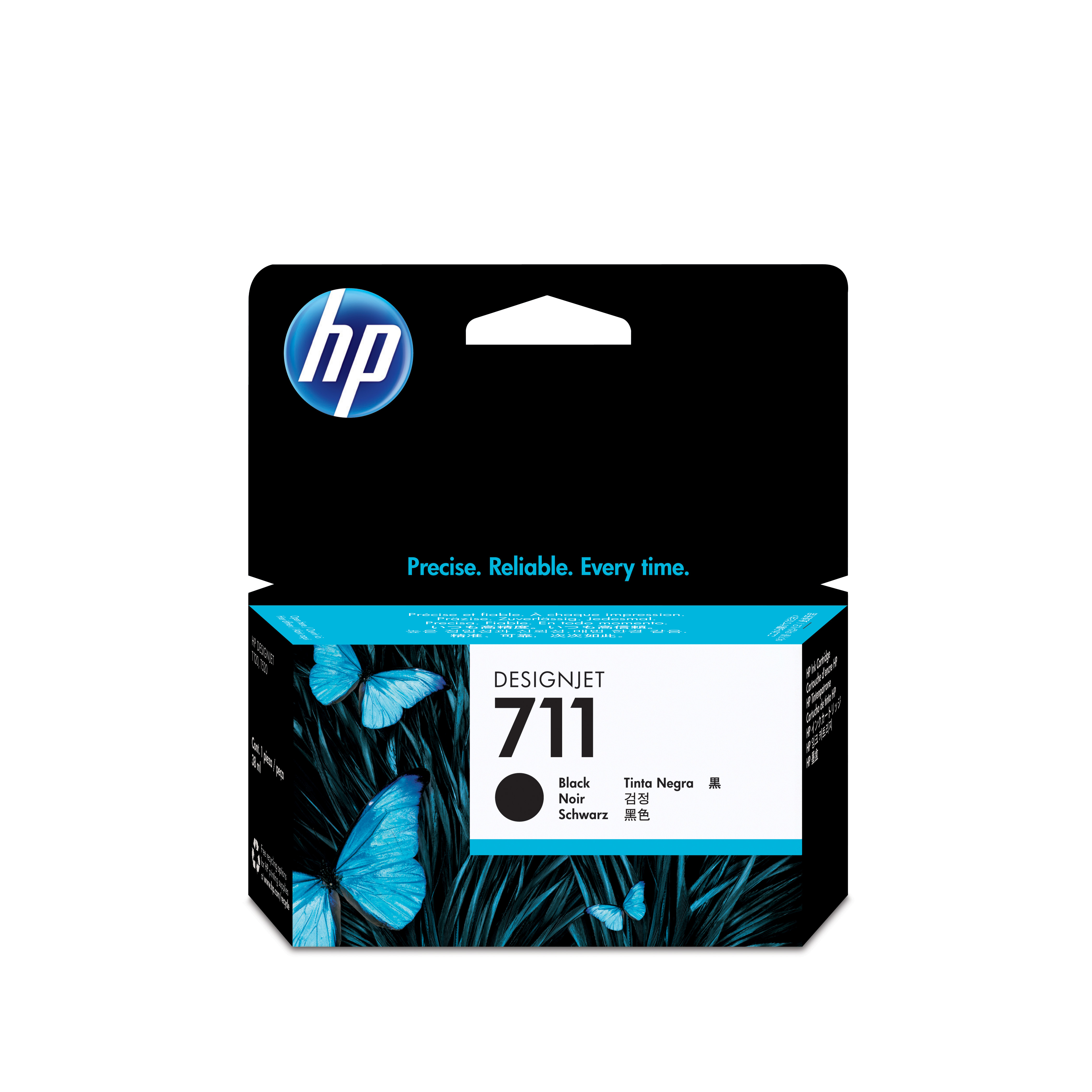 HP No. 711 Black Ink Cartridge - 38ml Cz129a