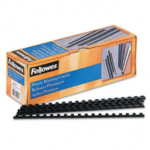 6200501 Fellowes Apex Black Plastic Comb 10m - WC01