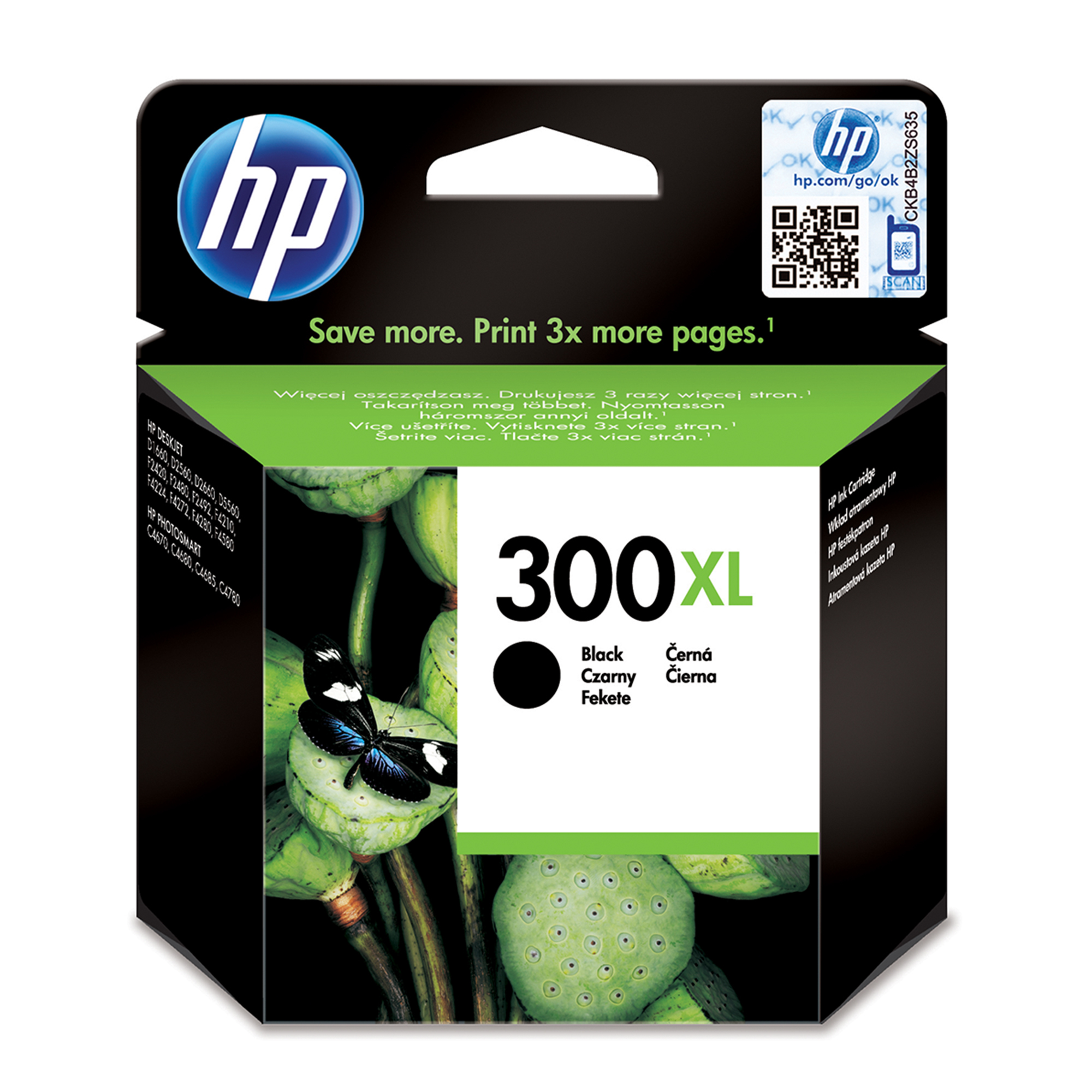 Hp - Inkjet Supply (pl1n) Mvs    Ink Cartridge No 300xl              Black                            In Cc641ee#uus