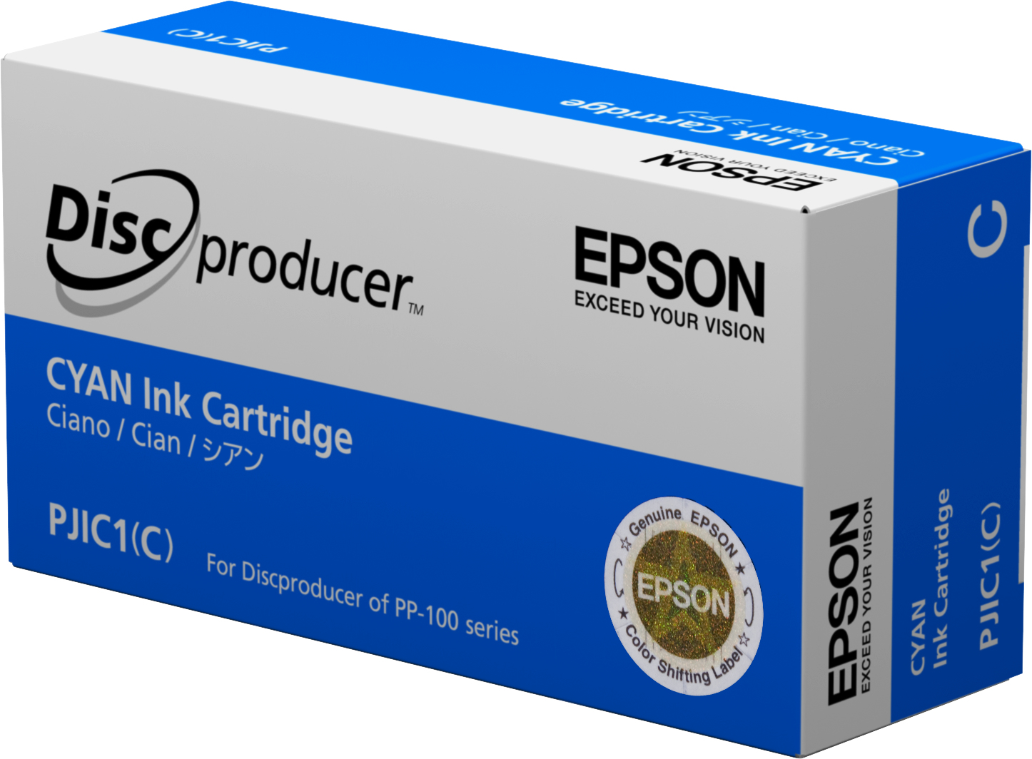 Epson - Cyan - Original - Ink Cartridge - For Discproducer PP-100, PP-100AP, PP-100II, PP-100N, PP-100NS, PP-50 C13S020447 - C2000