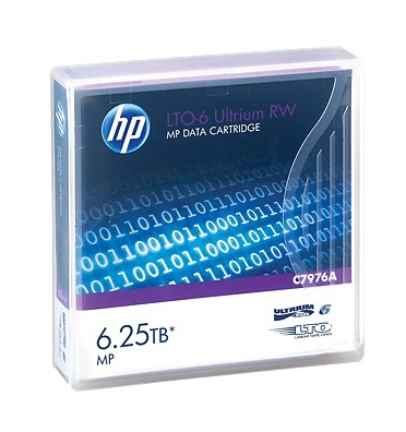HP Ultrium RW Data Cartridge - LTO Ultrium 6 6.25 TB - For StoreEver LTO-6, MSL2024, MSL4048, MSL8096, StoreEver 1/8 G2 Tape Autoloader C7976A - C2000