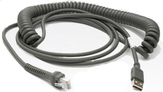 Zebra Symbol - 1adc1a            Cable Usb Coiled 15ft Connector     15ft  Coiled                        Cba-u09-c15zar