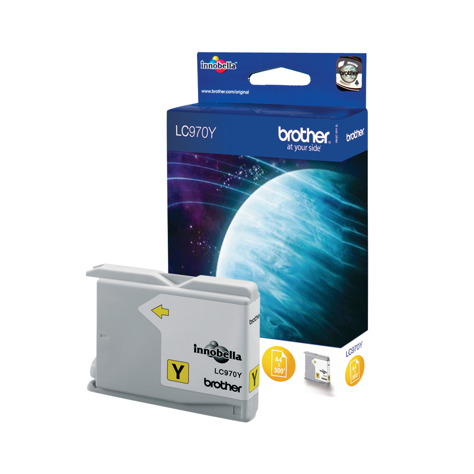 Lc970y brother Yellow Ink Dcp135c/mfc235c 300 Page - AD01