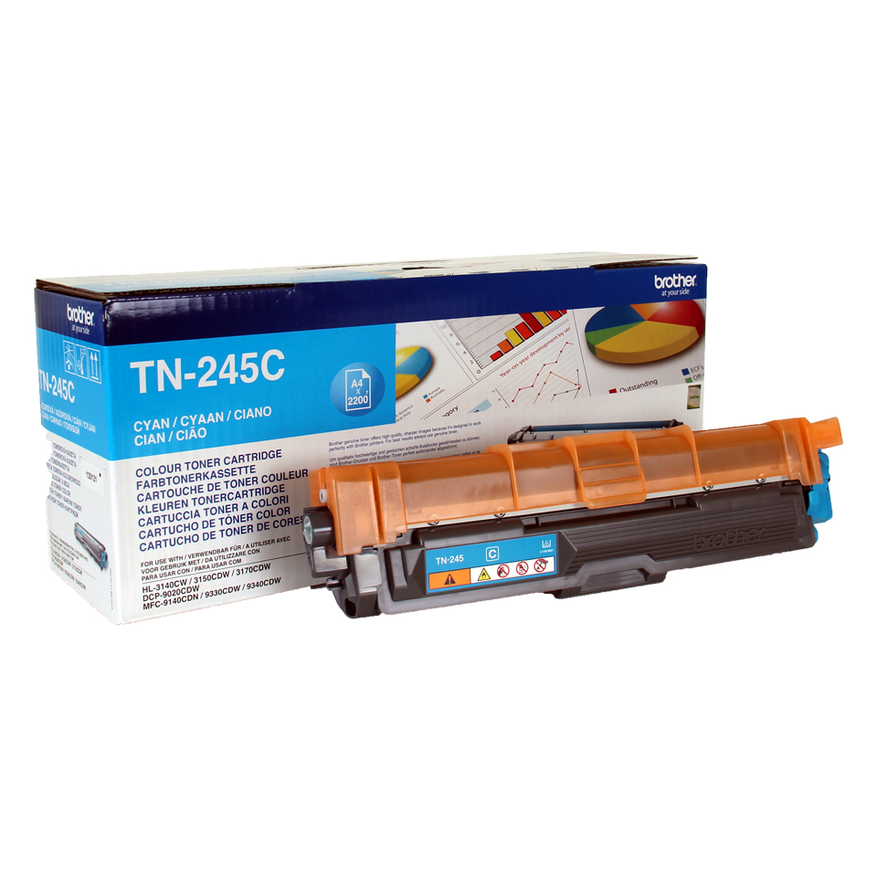 Tn245c brother Cyan Toner Hl3140/mfc9140 2.2k - AD01