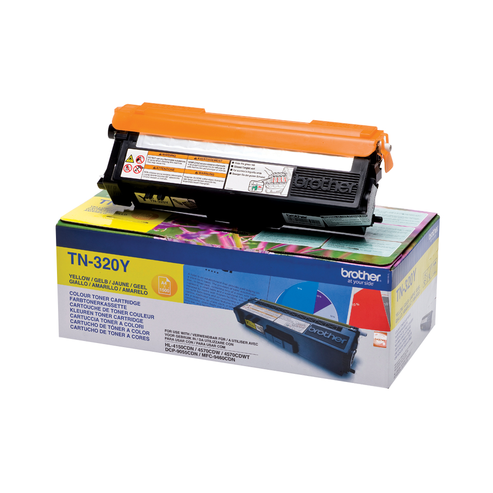 Tn320y brother Hl4140cn Yellow Toner 1.5k - AD01