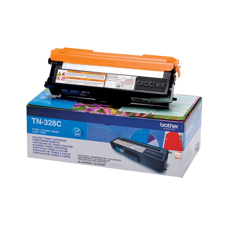 Tn328c brother Mfc9970cdw/dcp9270 Cyan Toner 6k - AD01