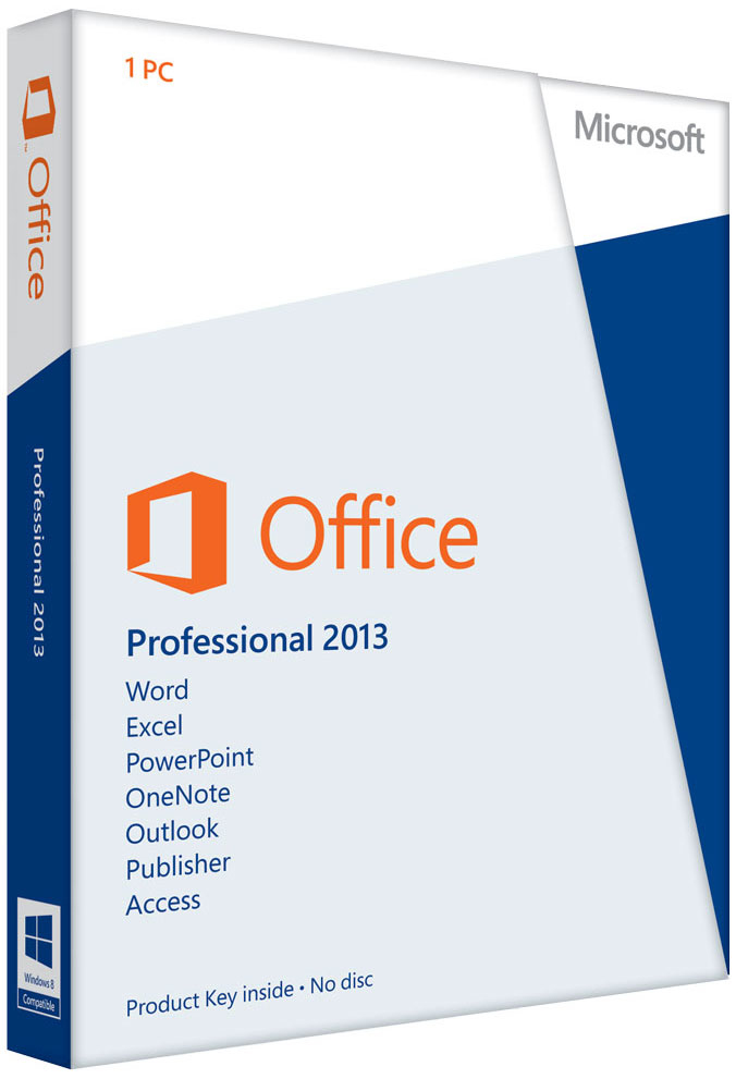 269-16093 Microsoft OFFICE 2013 PROFESSIONAL MEDIALESS