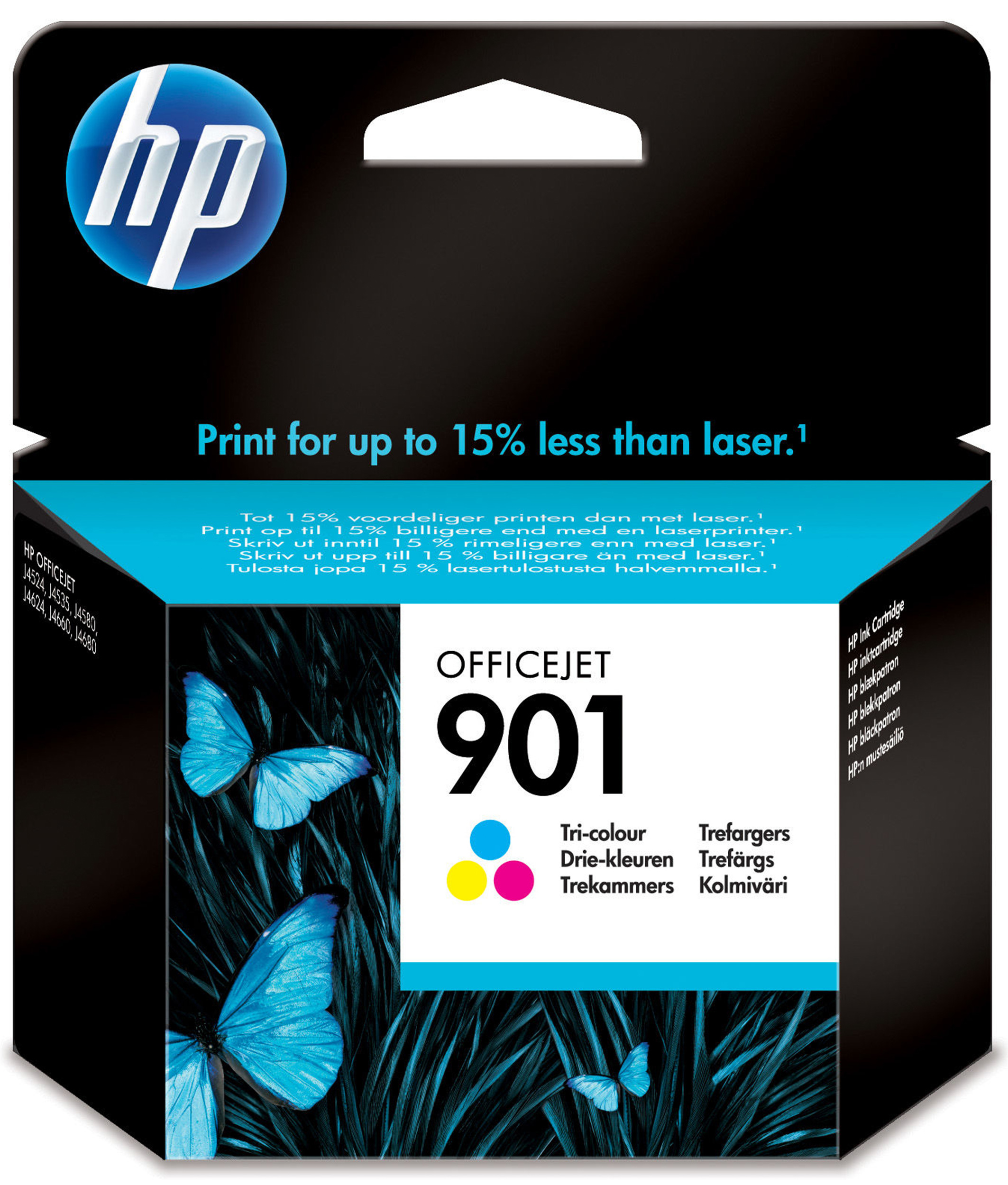 Hp - Inkjet Supply (pl1n) Mvs    Officejet Ink Cartridge No 901      Tricolour                        In Cc656ae#uus