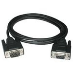 15m DB9 M/F Extension Cable - Black 81382 - C2000