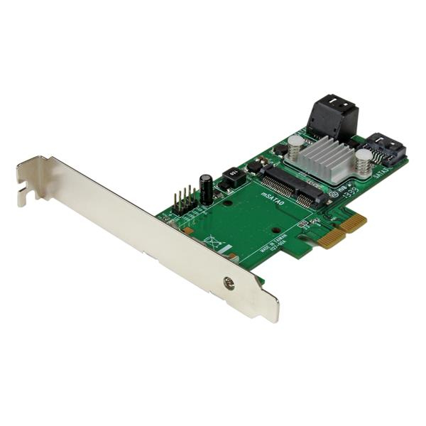 Pexmsata343 Startech.com 3 Port Pci Express 2.0 Sata Iii 6 Gbps Raid Controller Card With Msata Slot And Hyperduo Ssd Tiering - Ent01