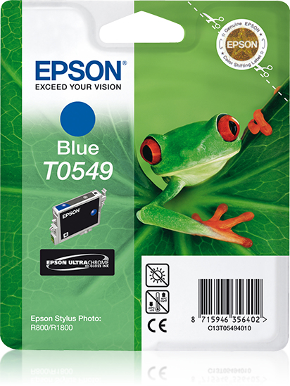 C13t05494010 epson Blue Ink Cart Stylus Photo R800 - AD01