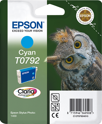 C13t07924010 epson Stylus Photo 1400 Cyan Ink Cart - AD01