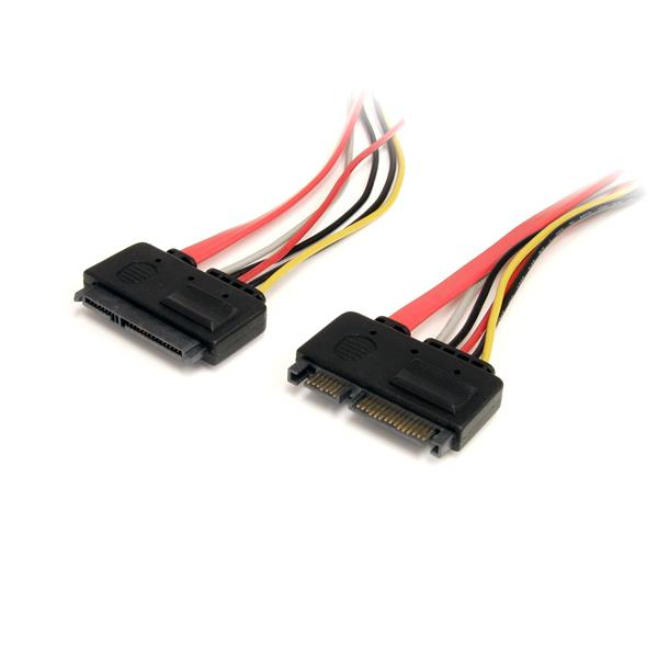 Sata22pext Startech.com (12 Inch) 22 Pin Sata Power And Data Extension Cable - Ent01