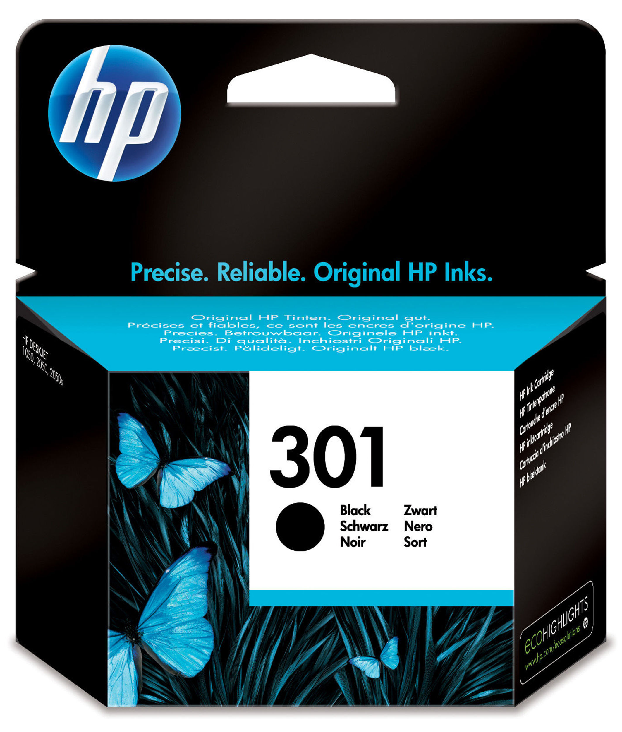 Hp - Inkjet Supply (pl1n) Hvs    301 Black Ink Cartridge             .                                   Ch561ee#uus