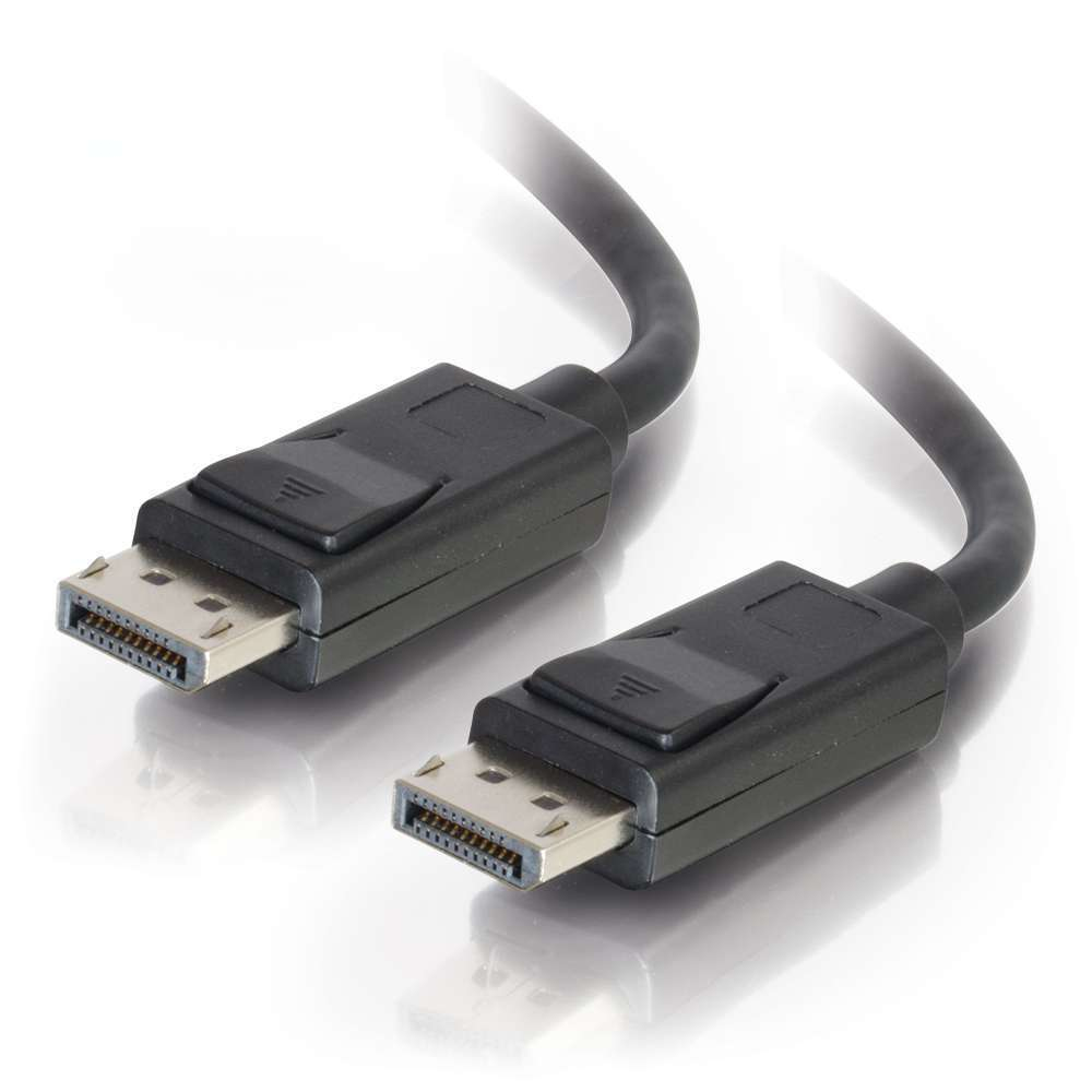 3m DisplayPort Cable With Latches, Male To Male, Black C2G Cable 84402 - C2000