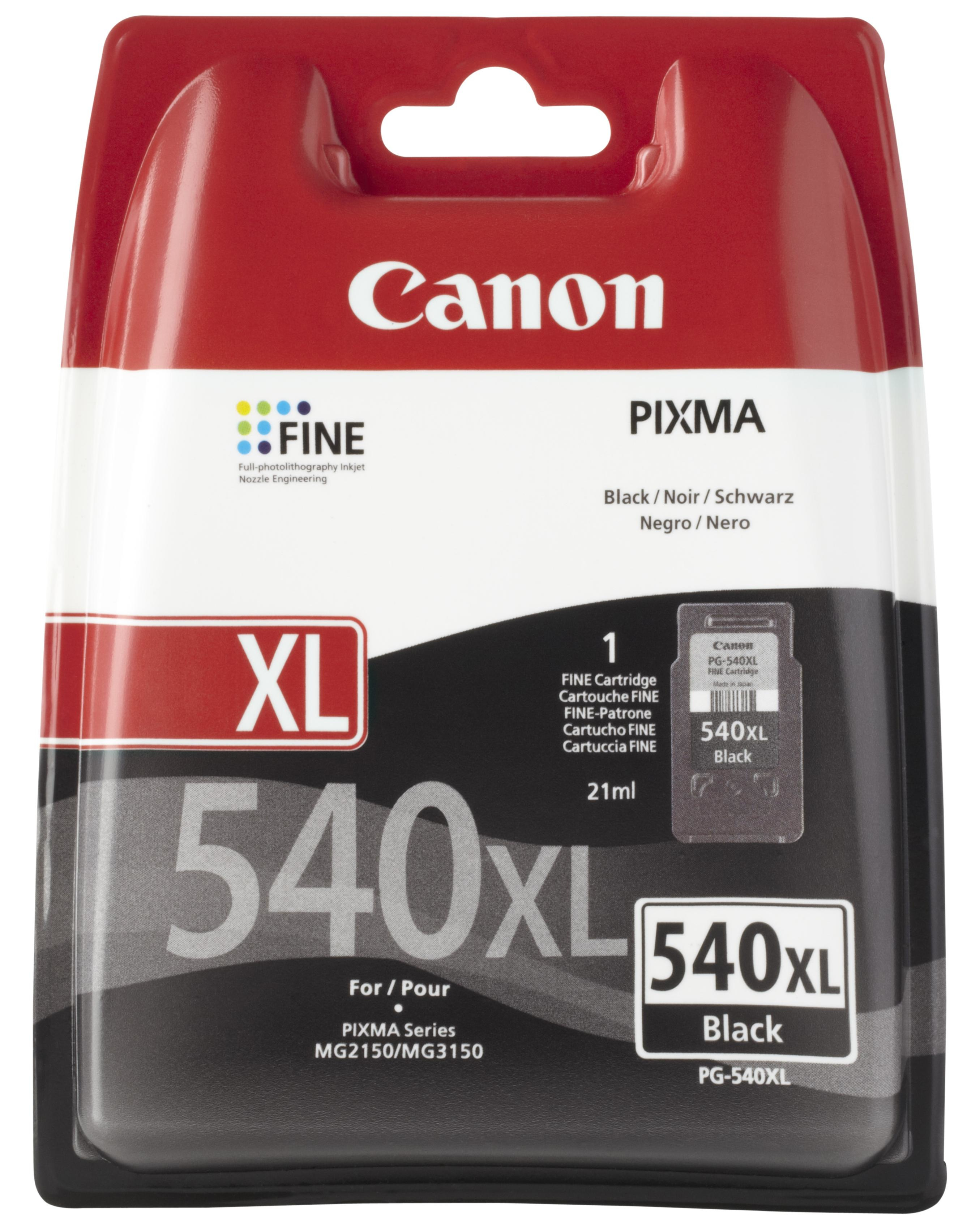 Canon - Supplies Ink Hv          Pg-540 Xl Bl Eur W/o Sec            Black Xl Ink Cartridge              5222b005
