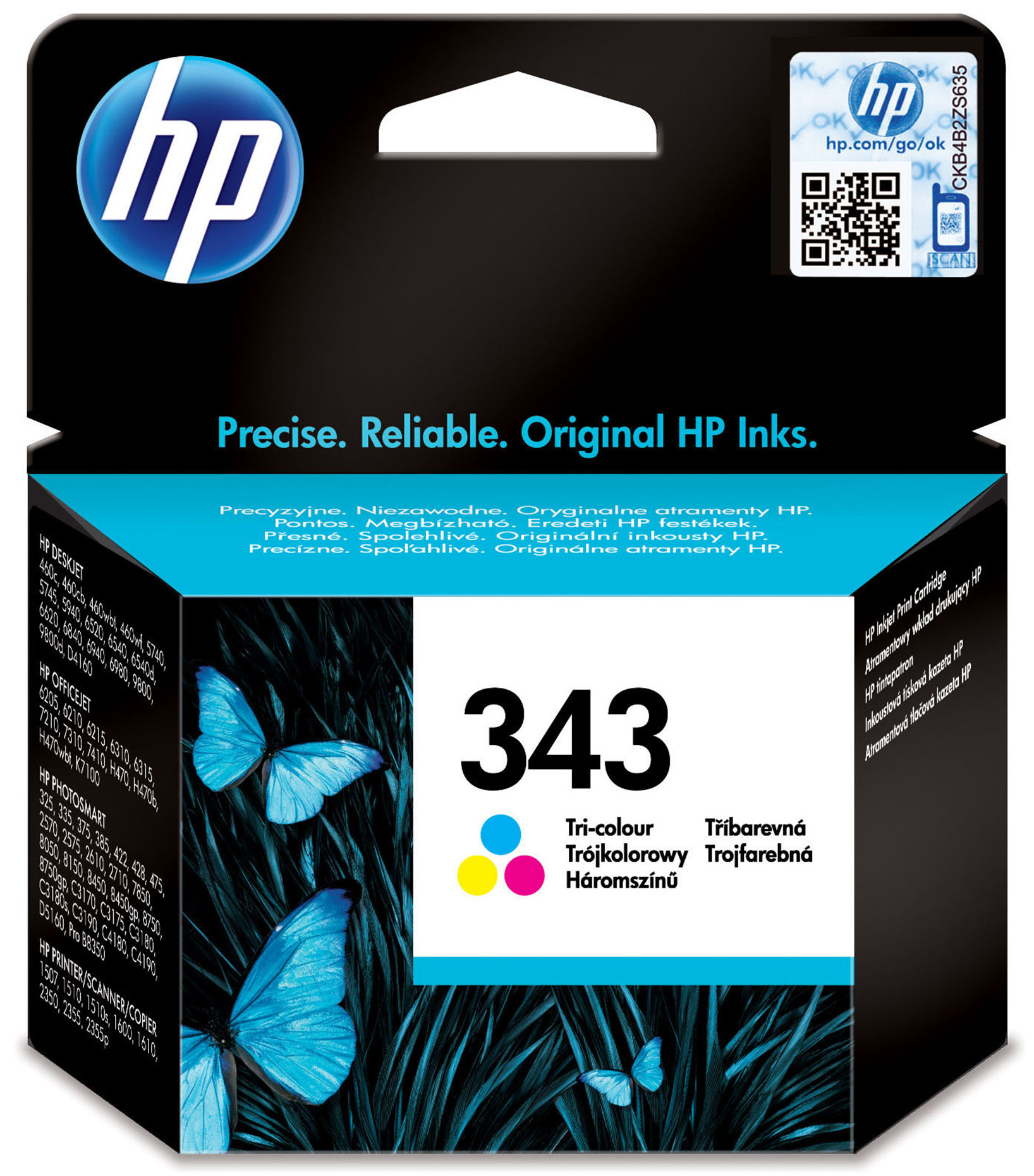 C8766ee HP 3 Colour Ink Cart 7ml No.343 - AD01