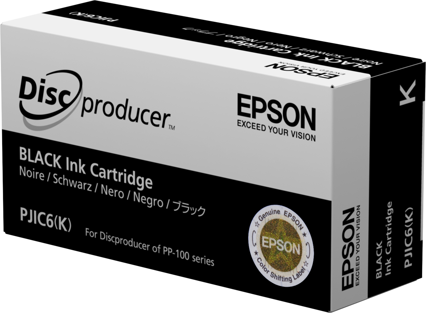 Epson - Black - Original - Ink Cartridge - For Discproducer PP-100, PP-100AP, PP-100II, PP-100N, PP-100NS, PP-50 C13S020452 - C2000