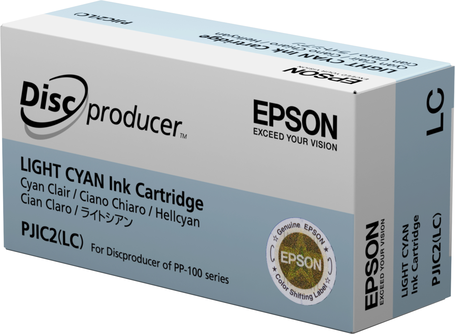 Epson - Light Cyan - Original - Ink Cartridge - For Discproducer PP-100, PP-100AP, PP-100II, PP-100N, PP-100NS, PP-50 C13S020448 - C2000