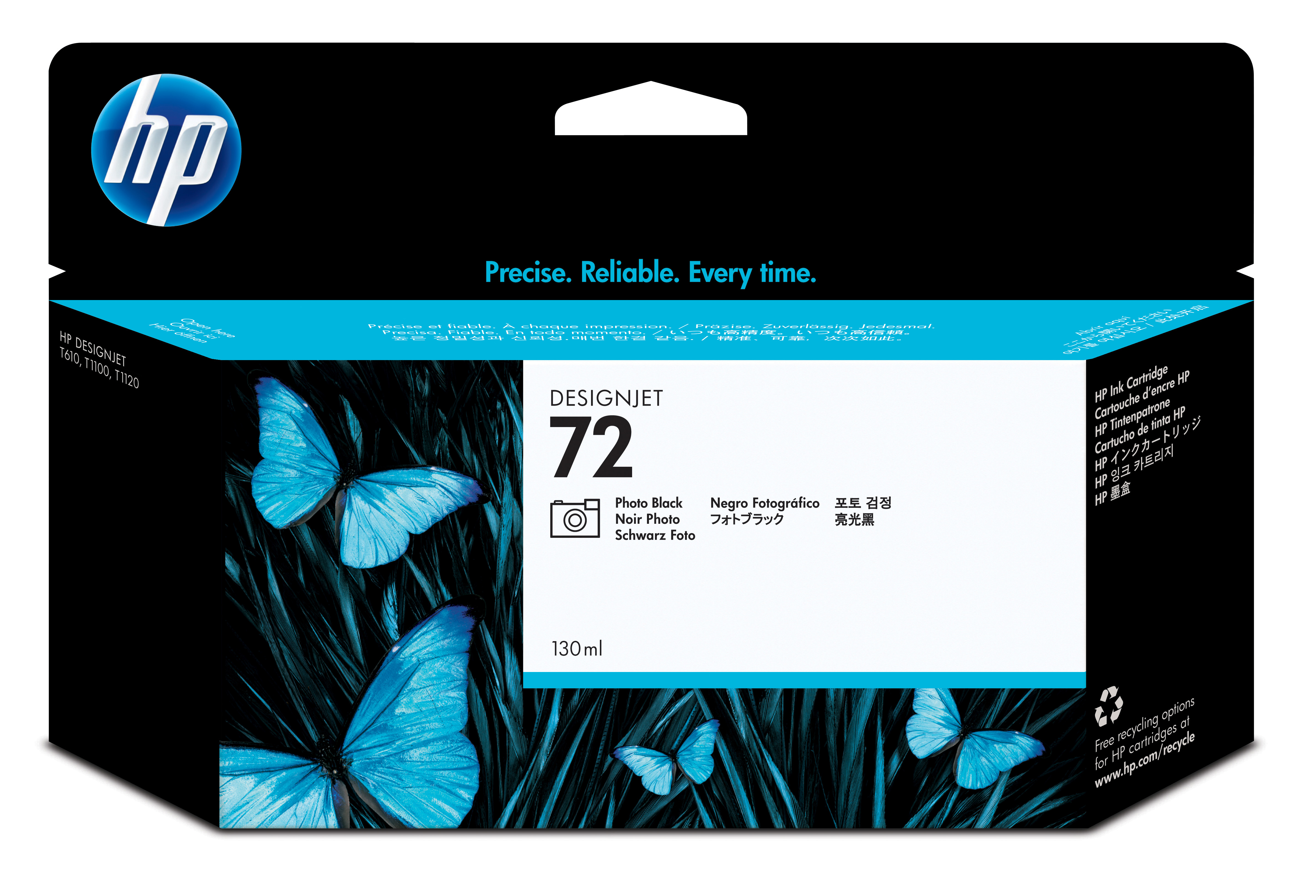 Hp - Inkjet Lf Design Supp (pl U Hp 72 Photo Black Ink Cartridge     130 Ml With Vivera Ink              C9370a