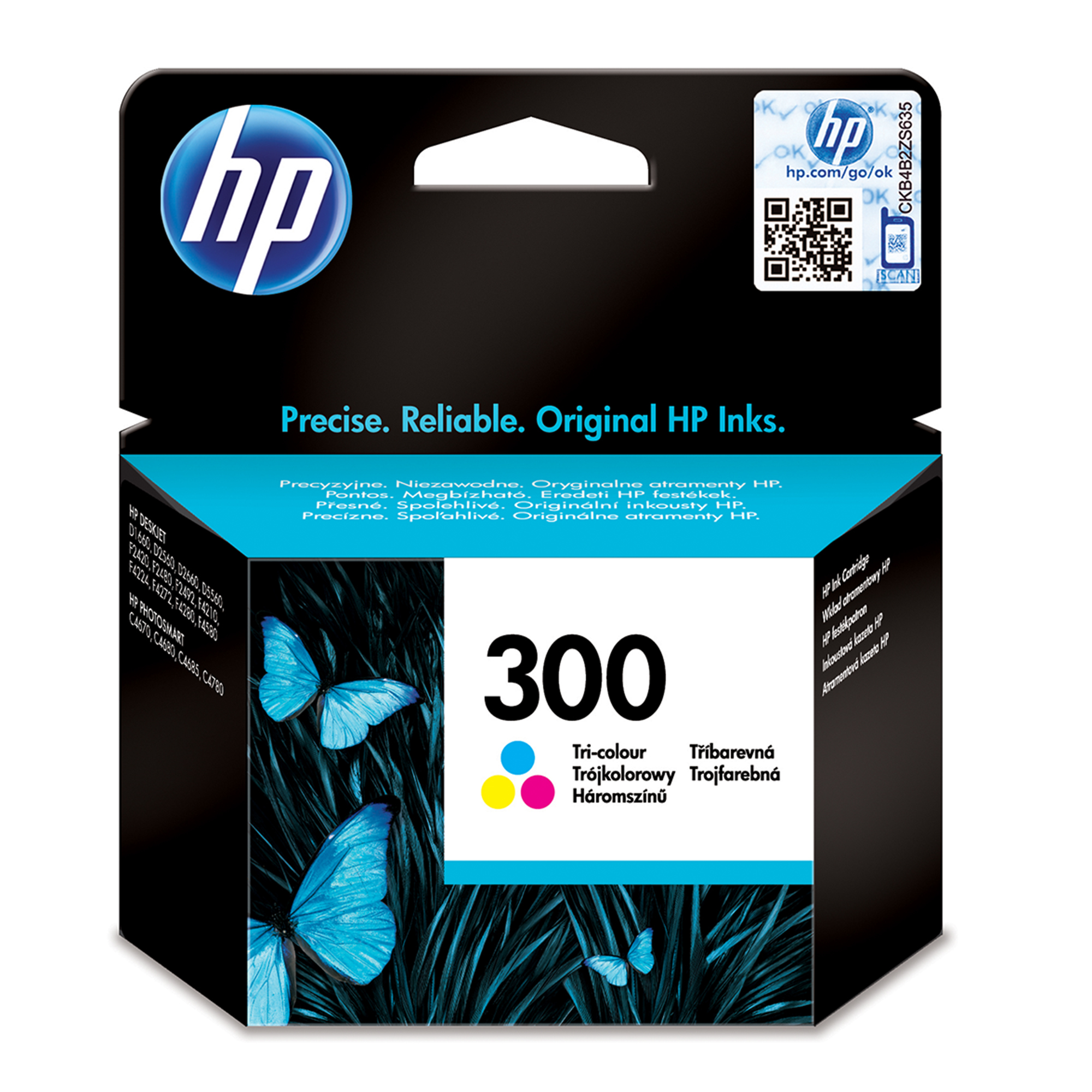 Hp - Inkjet Supply (pl1n) Hvs    Ink Cartridge No 300                Tricolour                        In Cc643ee#uus