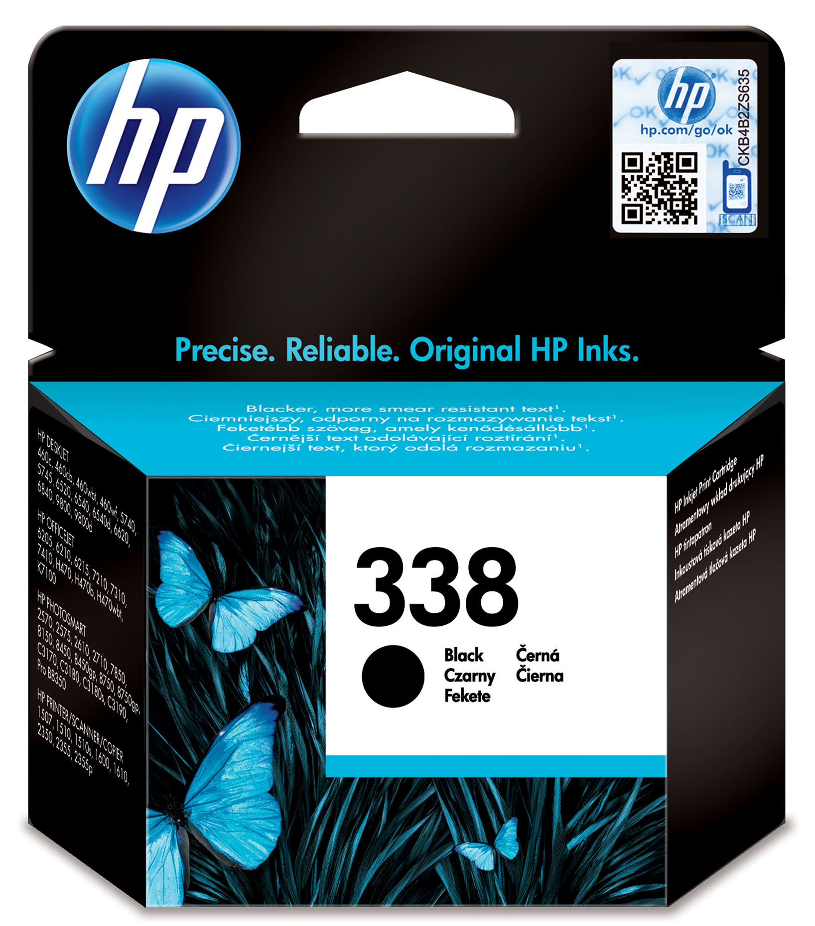Hp - Inkjet Supply (pl1n) Hvs    Ink Cartridge No 338                Black                            In C8765ee#uus