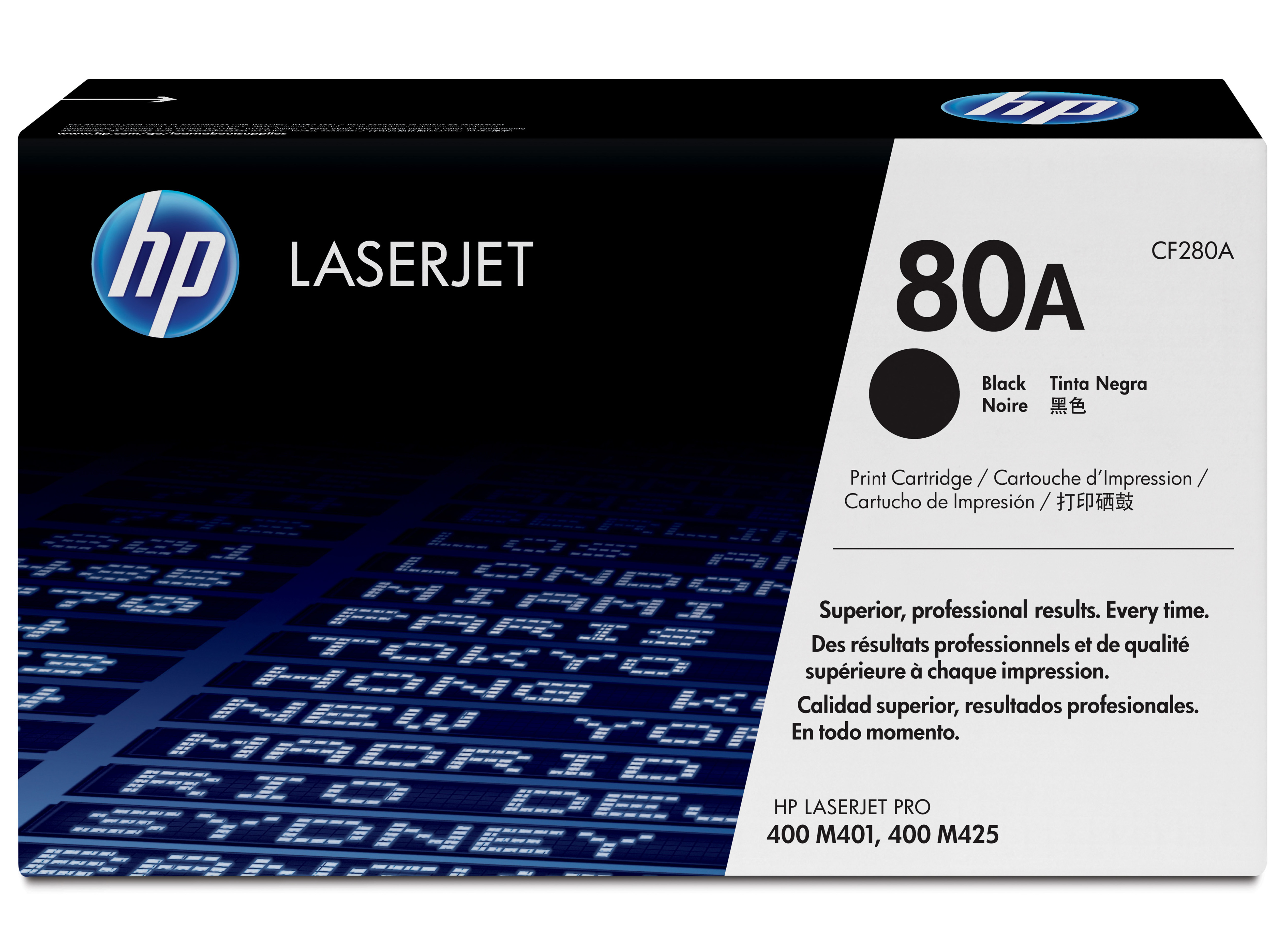 Hp - Laserjet Supply (pl5t) Lvs  Toner Cartridge 80a Black           .                                   Cf280a
