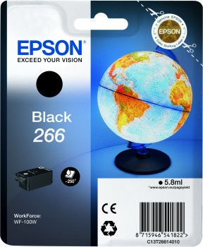 Epson - Supplies Ink (blister)   Singlepack Black 266 Ink Cartr      In Rs Blister Pack                  C13t26614010