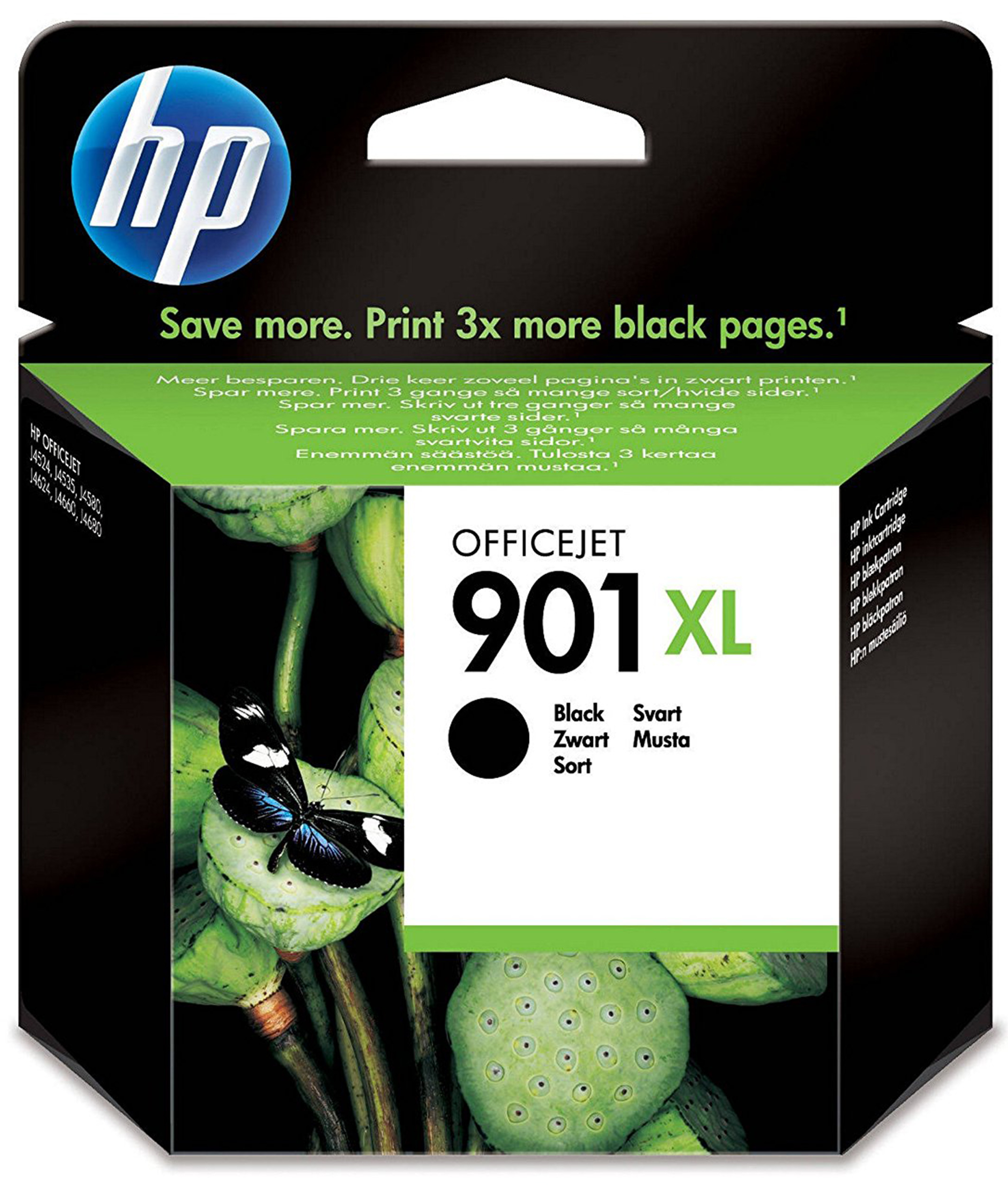 Hp - Inkjet Supply (pl1n) Mvs    Officejet Ink Cartridge             No 901xl Black                   In Cc654ae#uus